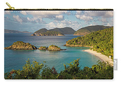 Carry-all Pouch featuring the photograph Trunk Bay Morning by Adam Romanowicz