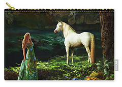Carry-all Pouch featuring the digital art Trust Me by Melinda Hughes-Berland