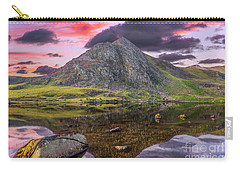 Carry-all Pouch featuring the photograph Tryfan Mountain Sunset by Adrian Evans