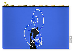 Tuba In Blue Carry-all Pouch by David Bridburg