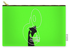 Tuba In Green Carry-all Pouch by David Bridburg