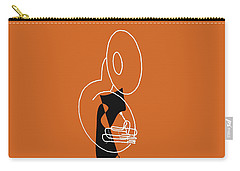 Tuba In Orange Carry-all Pouch by David Bridburg
