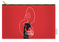 Tuba In Red Carry-all Pouch by David Bridburg