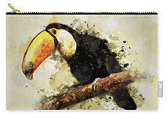 Tucan On The Branch Carry-all Pouch by Jaroslaw Blaminsky