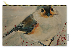 Tufted Blue Titmouse Carry-all Pouch
