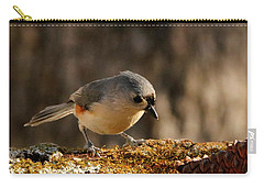Tufted Titmouse In Fall Carry-all Pouch by Sheila Brown