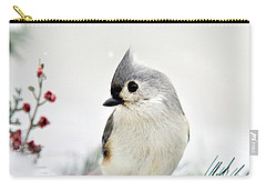 Tufted Titmouse Square Carry-all Pouch