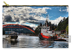 Tugboat At The Rainbow Bridge Carry-all Pouch by David Patterson