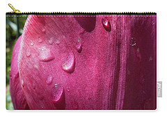 Carry-all Pouch featuring the photograph Tulip After The Rain by Jean Bernard Roussilhe