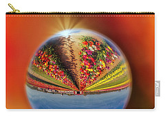 Carry-all Pouch featuring the photograph Tulip Farm Reflections And Refractions by Susan Candelario