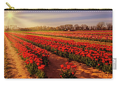 Carry-all Pouch featuring the photograph Tulip Farm Sunset by Susan Candelario