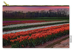 Carry-all Pouch featuring the photograph Tulip Farm by Susan Candelario