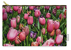 Carry-all Pouch featuring the photograph Tulip Flowers  by D Davila