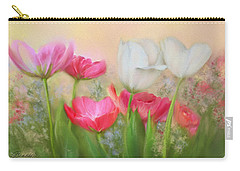 Carry-all Pouch featuring the painting Tulip Garden by Bonnie Willis