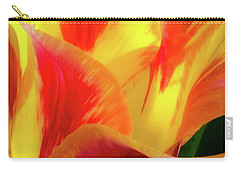 Carry-all Pouch featuring the photograph Tulip In Bloom by D Davila