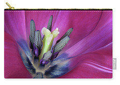 Carry-all Pouch featuring the photograph Tulip Intimacy by David and Carol Kelly