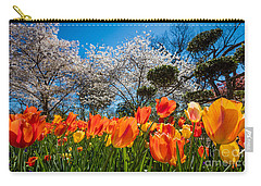 Tulip Panorama Carry-all Pouch by Inge Johnsson