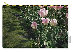 Carry-all Pouch featuring the photograph Tulip Parade by Jolanta Anna Karolska