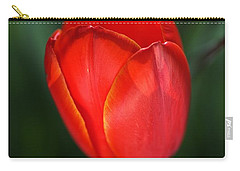 Tulip Red With A Hint Of Yellow Carry-all Pouch