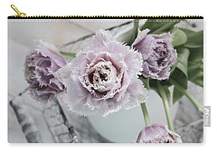 Carry-all Pouch featuring the photograph Tulip Ruffles by Kim Hojnacki