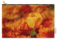 Carry-all Pouch featuring the photograph Tulip Standout by Susan Candelario