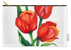 Carry-all Pouch featuring the painting Tulip Time by Barbara Jewell