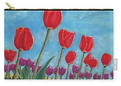 Tulip View Carry-all Pouch by Arlene Crafton