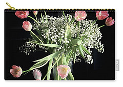 Tulips And Baby's Breath Carry-all Pouch by Patricia E Sundik