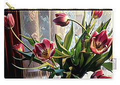 Tulips And Lace Carry-all Pouch