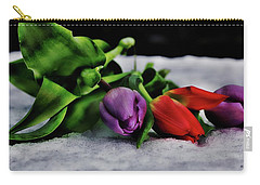 Tulips And Snow Carry-all Pouch