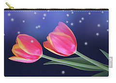 Tulips And Stars Carry-all Pouch