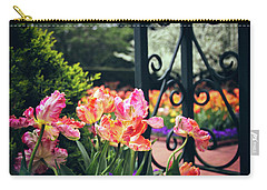 Tulips At The Garden Gate Carry-all Pouch by Jessica Jenney