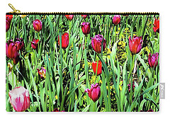 Carry-all Pouch featuring the photograph Tulips Blooming by D Davila