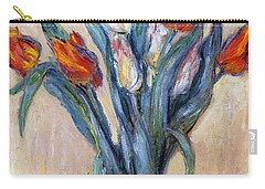 Tulips Carry-all Pouch by Claude Monet