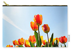 Tulips From A Low Point Of View Carry-all Pouch by IPics Photography