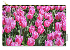 Carry-all Pouch featuring the photograph Tulips In Pink Color by Patricia Hofmeester
