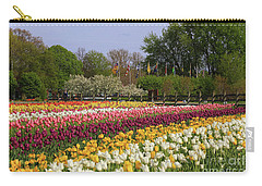 Tulips In Rows Carry-all Pouch by Rachel Cohen
