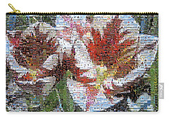 Tulips In Springtime Photomosaic Carry-all Pouch by Michelle Calkins