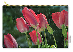Carry-all Pouch featuring the photograph Tulips In The Rain by William Lee