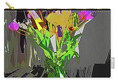 Tulips In Vase Cubed Carry-all Pouch