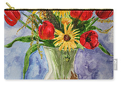 Tulips In Vase Carry-all Pouch