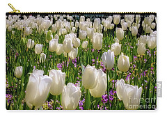 Carry-all Pouch featuring the photograph Tulips In White by D Davila