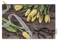 Carry-all Pouch featuring the photograph Tulips Of Spring by Kim Hojnacki