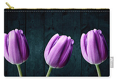 Tulips On Wood Carry-all Pouch
