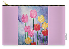Ten  Simple  Tulips  Pink Red Yellow                                Flying Lamb Productions   Carry-all Pouch