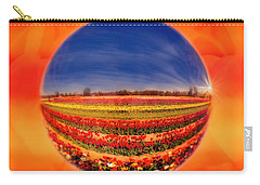 Carry-all Pouch featuring the photograph Tulips Reflections And Refractions by Susan Candelario