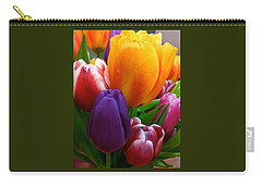 Carry-all Pouch featuring the photograph Tulips Smiling by Marie Hicks