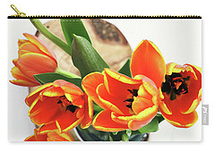 Carry-all Pouch featuring the pyrography Tulips by Stephanie Frey