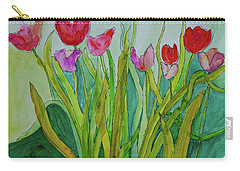 Tulips Carry-all Pouch by Teresa Tilley
