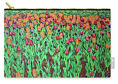 Carry-all Pouch featuring the painting Tulips Tulips Everywhere by Deborah Boyd